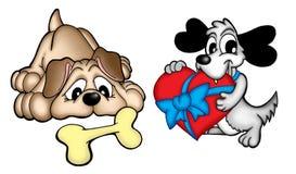 Pares de cães bonitos Fotografia de Stock Royalty Free