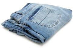 Pares de calças de brim dobrados Imagens de Stock Royalty Free