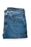 Pares de calças de ganga fotografia de stock