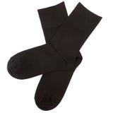Pares de calcetines Aislado en blanco caminos de recortes incluidos Imágenes de archivo libres de regalías