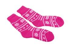 Pares de calcetines del ` s de las mujeres aislados en el fondo blanco Imagen de archivo libre de regalías