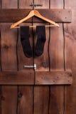 Pares de calcetines negros Fotos de archivo