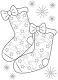 Pares de calcetines que colorean la página Fotos de archivo libres de regalías