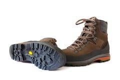 Pares de caminhar botas Fotografia de Stock