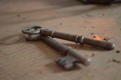 Pares de chaves de esqueleto antigas Imagem de Stock Royalty Free