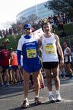 Pares de concorrentes na meia maratona de Roma-Ostia Imagens de Stock