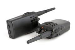 Pares de conjuntos de radio portables Fotografía de archivo
