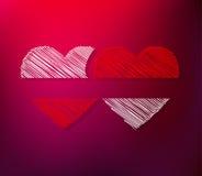 Pares de corações Imagens de Stock Royalty Free