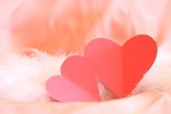 Pares de corações para o dia do Valentim Foto de Stock