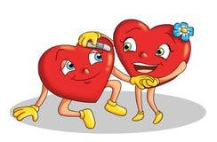Pares de corações Fotografia de Stock