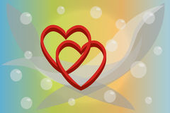 Pares de corazones stock de ilustración