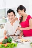 Pares de cozinheiros Imagem de Stock