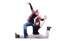 Pares de dança dos dançarinos Imagem de Stock