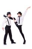 Pares de dança dos dançarinos Fotos de Stock Royalty Free