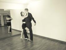 Pares de dançarinos que dançam danças do latino Fotos de Stock
