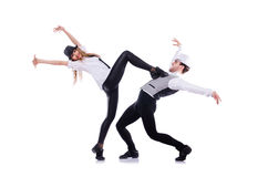 Pares de dança dos dançarinos Imagem de Stock Royalty Free