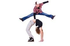 Pares de dança dos dançarinos Fotografia de Stock Royalty Free
