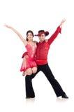 Pares de dançarinos isolados Fotos de Stock