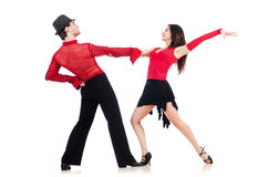 Pares de dançarinos Imagem de Stock Royalty Free