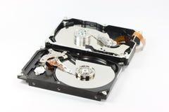 Pares de disco duro en el backgound blanco Foto de archivo libre de regalías