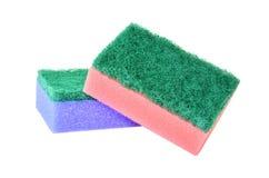 Pares de esponja que se lava Imagen de archivo