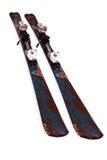 Pares de esquís de la montaña Imágenes de archivo libres de regalías