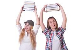 Pares de estudantes novos Fotos de Stock Royalty Free