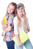 Pares de estudiantes jovenes Foto de archivo