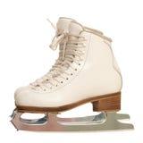 Pares de figura patins da menina sobre o branco fotos de stock