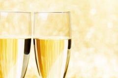 Pares de flautas de champanhe Imagem de Stock