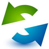 Pares de flechas en círculo Flechas circulares Reciclaje, lazo o CY Imagenes de archivo