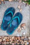 Pares de flip-flop Fotos de archivo libres de regalías