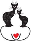Pares de gatos Imagens de Stock Royalty Free