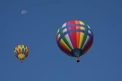 Pares de globos del aire caliente Imagen de archivo libre de regalías