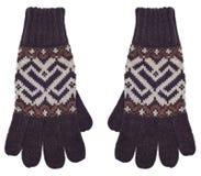 Pares de guantes de Brown Fotos de archivo