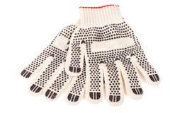 Pares de guantes de trabajo Imagenes de archivo