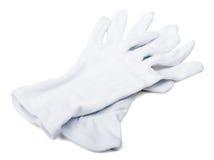 Pares de guantes del blanco de los mayordomos Foto de archivo libre de regalías
