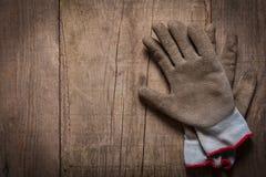 Pares de guantes del trabajo Imágenes de archivo libres de regalías