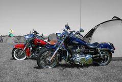 Pares de Harleys Imagen de archivo