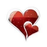 Pares de ilustração dos corações Fotos de Stock Royalty Free