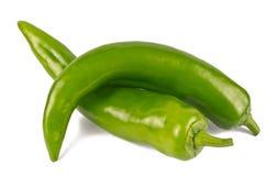 Pares de Jalapenos (pimentões verdes) Imagem de Stock