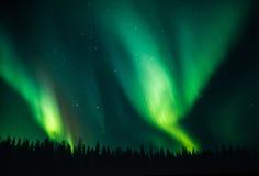 Pares de la aurora boreal Fotos de archivo