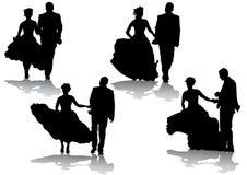 Pares de la boda Imágenes de archivo libres de regalías