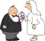 Pares de la boda ilustración del vector