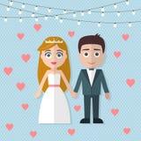 Pares de la boda Imagen de archivo libre de regalías