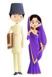 Pares de la boda de Parsi ilustración del vector