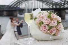 Pares de la boda del baile Imagen de archivo libre de regalías