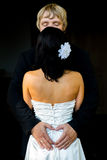 Pares de la boda del recién casado Fotografía de archivo libre de regalías