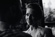 Pares de la boda junto Fotografía de archivo