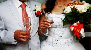 Pares de la boda La novia y el novio Imagen de archivo